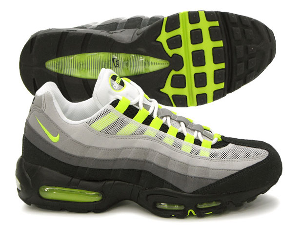 Nike Air Max 95 Grey And Lime Green